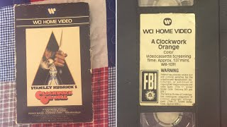 Opening to A Clockwork Orange 1980 VHS [WCI Home Video]