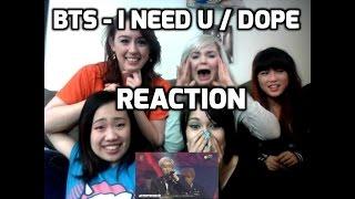 [Reaction] I NEED U / DOPE - BTS 방탄소년단 @ Golden Disk Awards 2016