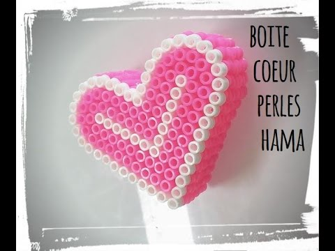 tuto boite coeur en perle hama youtube. Black Bedroom Furniture Sets. Home Design Ideas