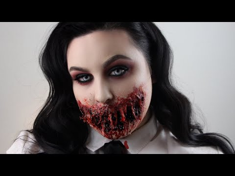 SLASHED MOUTH EASY HALLOWEEN MAKEUP TUTORIAL
