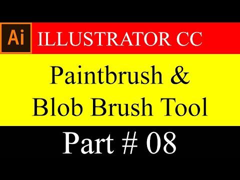 # How To Use Paintbrush U0026 Blob Brush Tool In Illustrator CC In Bangla (Basic) Part# 08