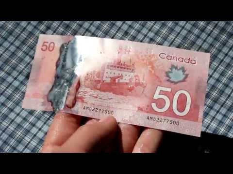 New Canadian $50 Bill Waterproof Test