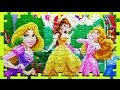 Disney PRINCESS Learn Puzzle Games Cinderella Rapunzel Aurora Belle Play Rompecabezas de Kids Toys