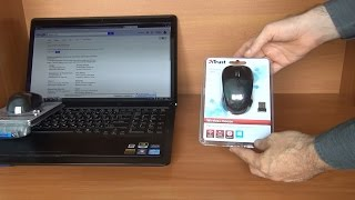 Unboxing and test of Trust YVI Wireless mouse in 3D 4K UHD