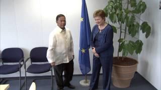 Commissioner Kristalina GEORGIEVA receives Jejomar C. BINAY, Vice-President of the Philippines:
