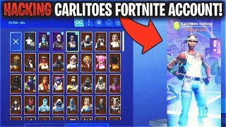 So I Hacked CARLITOES Recon Expert Fortnite Account and did this...