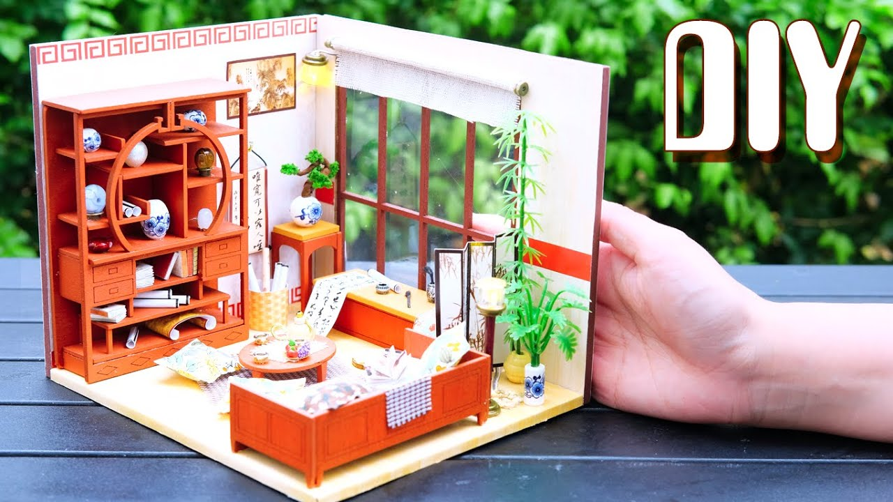 Diy Miniature Dollhouse Kit Chinese Living Room With