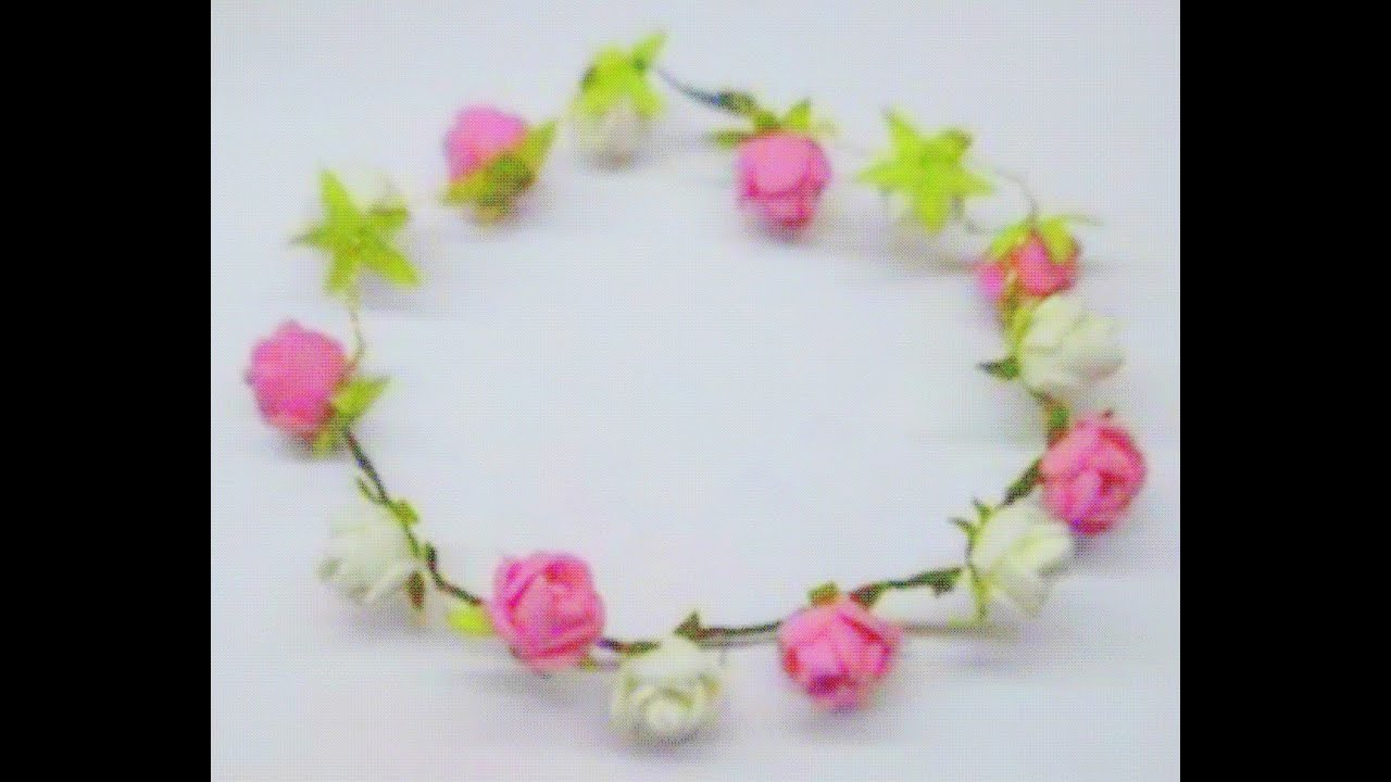 Diy how to make rose tiara headband hairband youtube izmirmasajfo Images