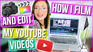 How I Film and Edit My YOUTUBE VIDEOS!♡Camera, iPhone Screen Recording, Color Correcting