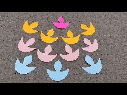 Diy How to make Paper Diya // Diwali Decoration // Easy diwali decorations ideas
