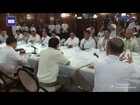 President Duterte talks with Basilan officials