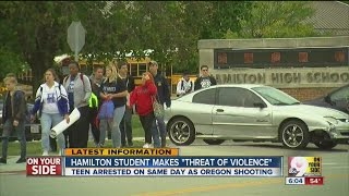 Hamilton High School student arrested after making 'threats of violence'