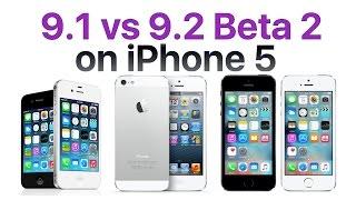 iPhone 5 iOS 9.1 vs iOS 9.2 Beta 2 / Public Beta 2 (Build # 13C5060d)