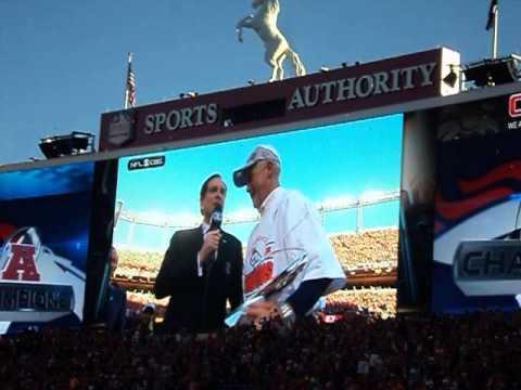 Denver Broncos 2013 Season AFC Trophy Presentation