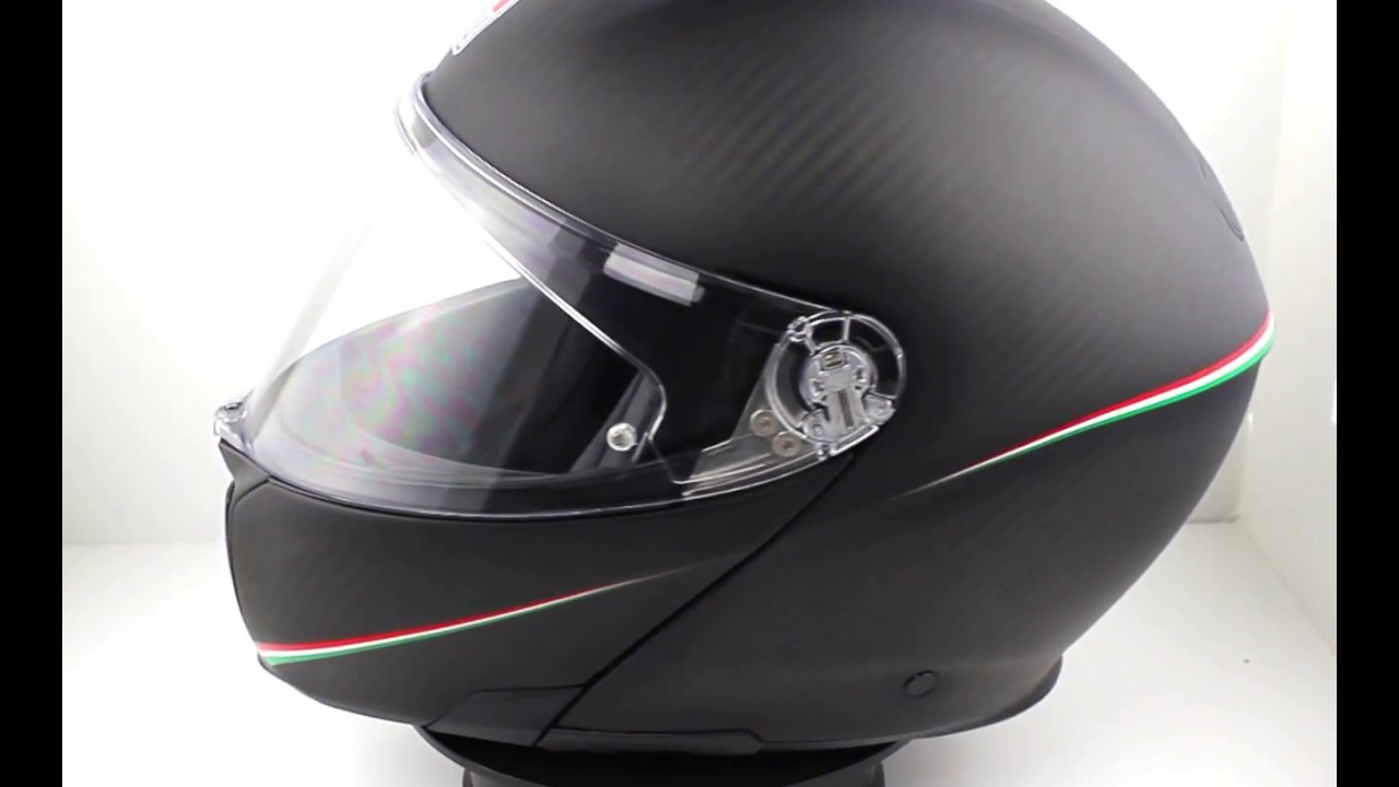 Agv Sports Modular Tricolore Flip Front Helmet Matte Carbon Italy Youtube