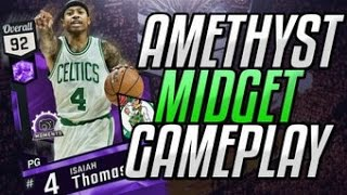 NBA 2K17 MYTEAM AMETHYST ISAIAH THOMAS GAME PLAY! HES A LITTLE GLITCHY GET IT!?