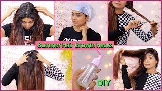 8 SUMMER HAIR CARE HACKS - For Hair Growth, Dry Hair, Hair fall, Dandruff & Split Ends   Rinkal Soni