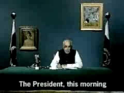 Ghulam Ishaq announcing General Zia's death!