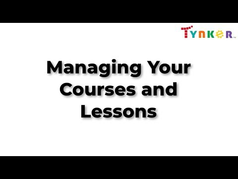 Managing Courses And Lessons In The Tynker Teacher Dash