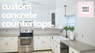 DIY Kitchen Concrete Countertops