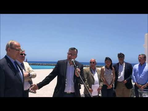 Puerto del Rosario.- Ceremonia Unión de los Océanos de Fundación Philippe  Costeau en Capital de Fue