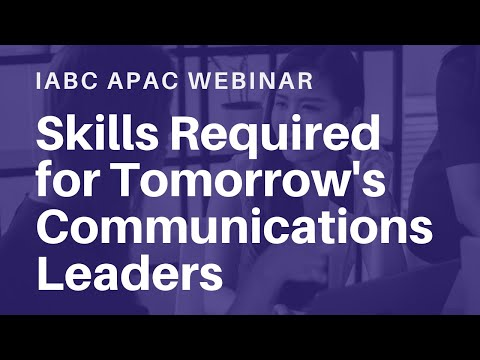 Free Webinar: Skills Required For Tomorrow's Communications Leaders