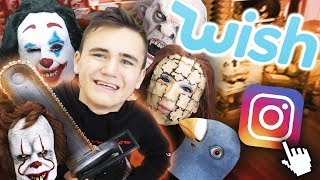 JE TESTE LES PIRES MASQUES D'HALLOWEEN WISH !!! 😱- Néo The One