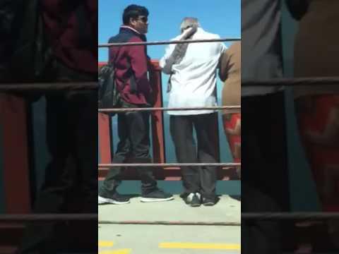 People on the Golden Gate Bridge