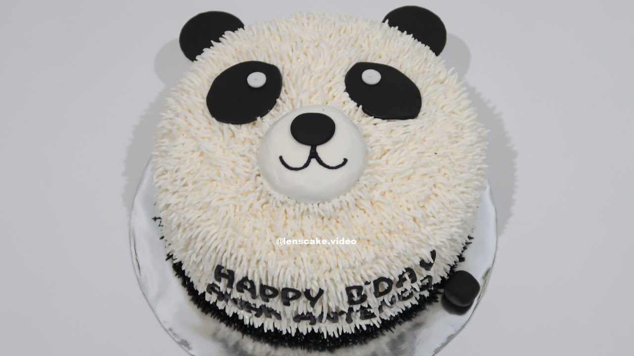 WITHOUT NOZZLE  How to Make Birthday Cake Easy Panda
