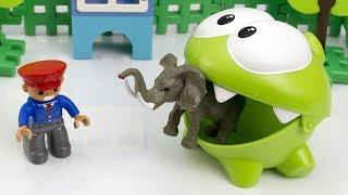 Мультик Пригоди Ам Няма в Зоопарку. Іграшки для дітей