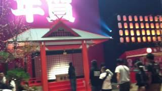 カウントダウンジャパン2015のGALAXYステージ前&カウントダウン神社!