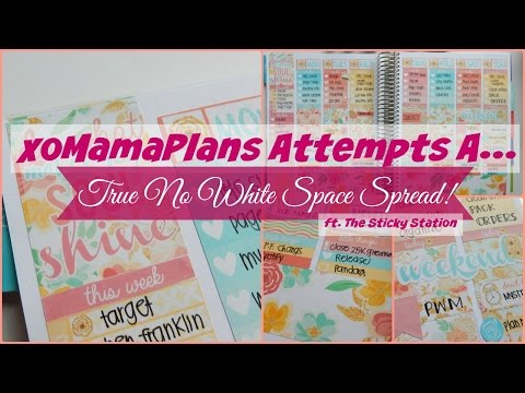 """""""Play Planning"""" Attempting a No White Space Spread in my Erin Condren Life Planner"""