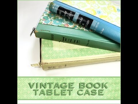 Vintage Book Tablet Case Tutorial