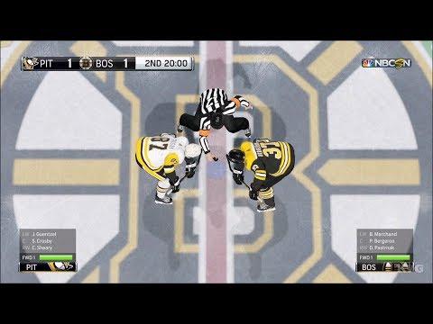 NHL 18 - Boston Bruins vs Pittsburgh Penguins - Gameplay (HD) [1080p60FPS]