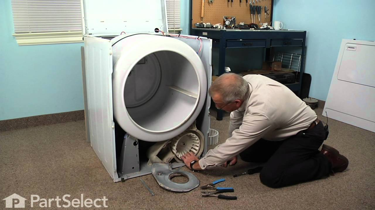 Dryer Repair Replacing The Blower Wheel Whirlpool Part