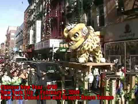 New York United Lion & Dragon Dance Troupe - Amazing 66 Restaurant - February 7, 2009