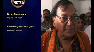 Nimu Bhowmick, BJP || Raiganj, West Bengal