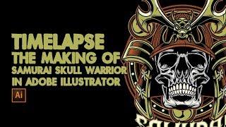 Timelapse the making of Samurai Skull warrior