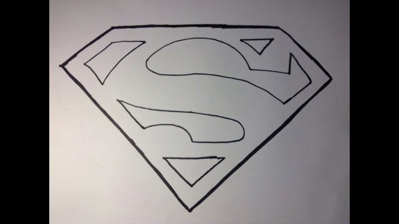 How To Draw Supermans Logo Youtube