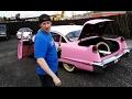 retard garage! 1956 pink cadillac