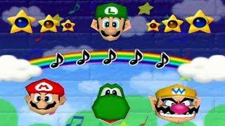 Mario Party 2 - All 1 vs. 3 Minigames