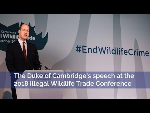 Speech | The Duke of Cambridge | 2018 Illegal Wildlife Trade Conference