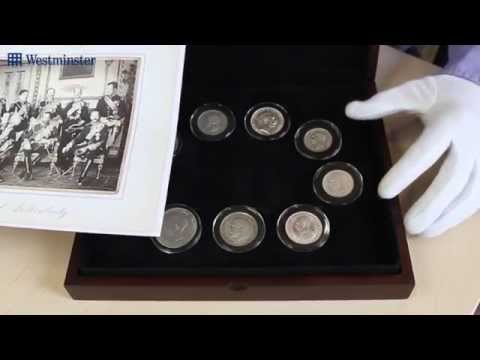 The Funeral of King Edward VII 9 Coin Silver Set