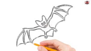 How to Draw a Bat Step by Step Easy for Beginners – Simple Bats Drawing Tutorial