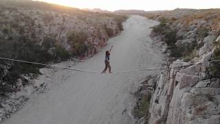 Breathtaking Footage Of Man Walking A Tightrope Between Mountains