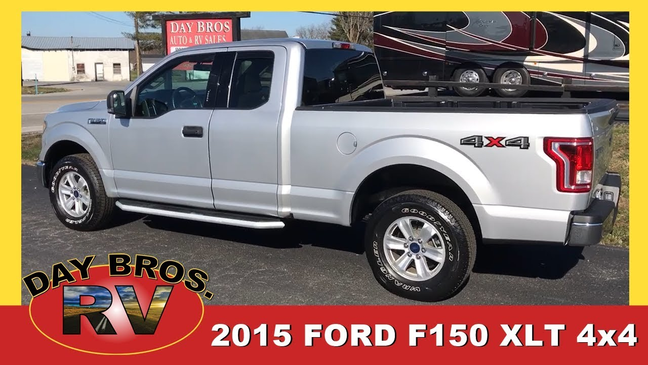 Used Ford 4x4 Trucks For Sale >> Used 2015 Ford F150 Xlt 4x4 Truck Newly Traded By 1 Owner