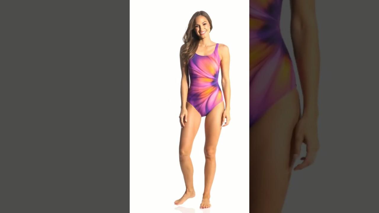 c9223b8126 Gottex Belle Fleur Mastectomy One Piece Swimsuit | SwimOutlet.com - YouTube