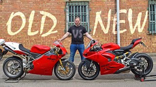 Can 90's Superbikes still cut it? We Compare Ducati 748R and 2020 Panigale V2 With Bikeiconics