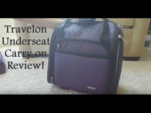 07e3b4472 Travelon Wheeled Underseat Carry-on! - YouTube