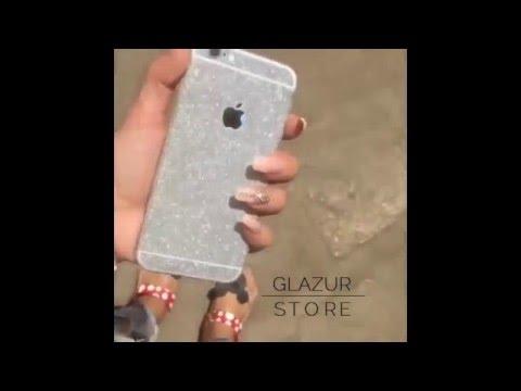 Блестящие наклейки на Iphone 5/5s,6/6s серебристые
